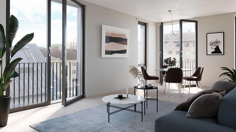 Bilde av stue og spisestue