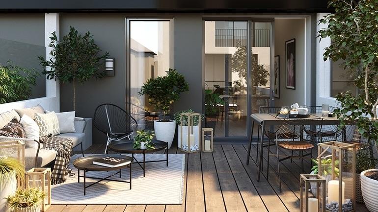 Bilde fra terrassen