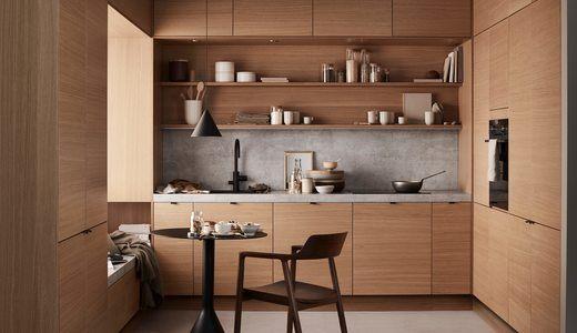 Bilde av kjøkken i eik